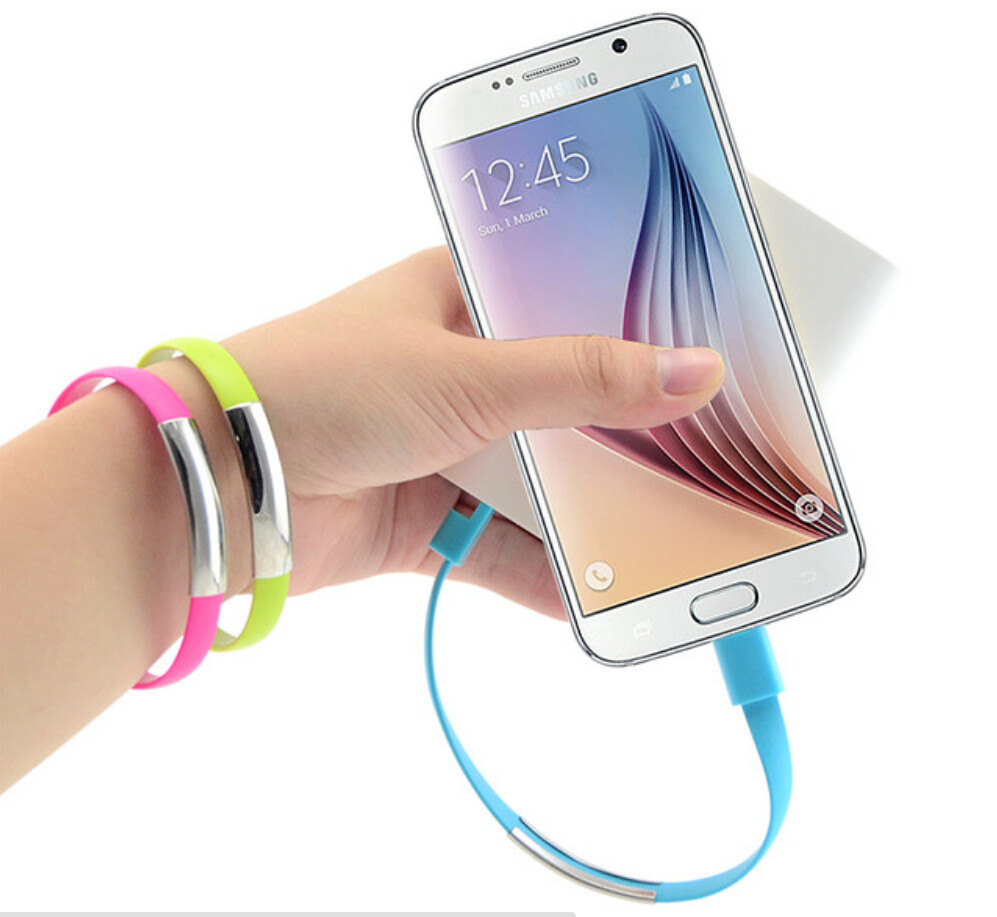 For Samsung Galaxy S3 S4 S6 Note 3 4 Mobile Phone hdmi Cables Universal Bracelet USB Micro Sync Data loading Charger Cable(China (Mainland))