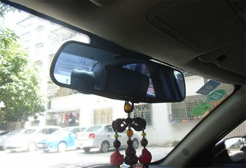 Dual Camera DVR Video recorde with Rear View camera 4.3 inch Rear view mirror DVR(China (Mainland))