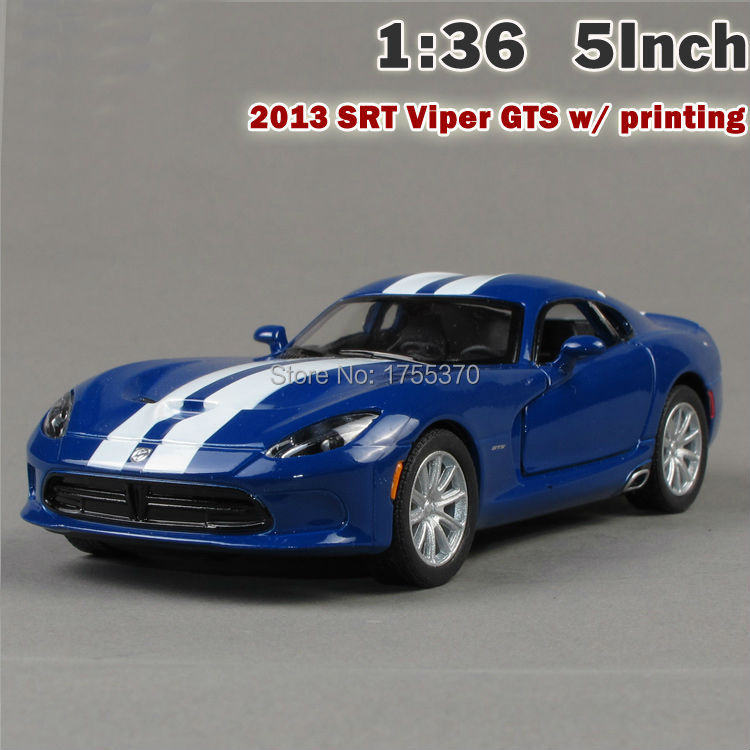 New 2013 SRT Viper GTS Printing Model Car 1:36 5 Inch Diecast Metal Alloy Toy Car Pull Back Gift For Children Kids(China (Mainland))