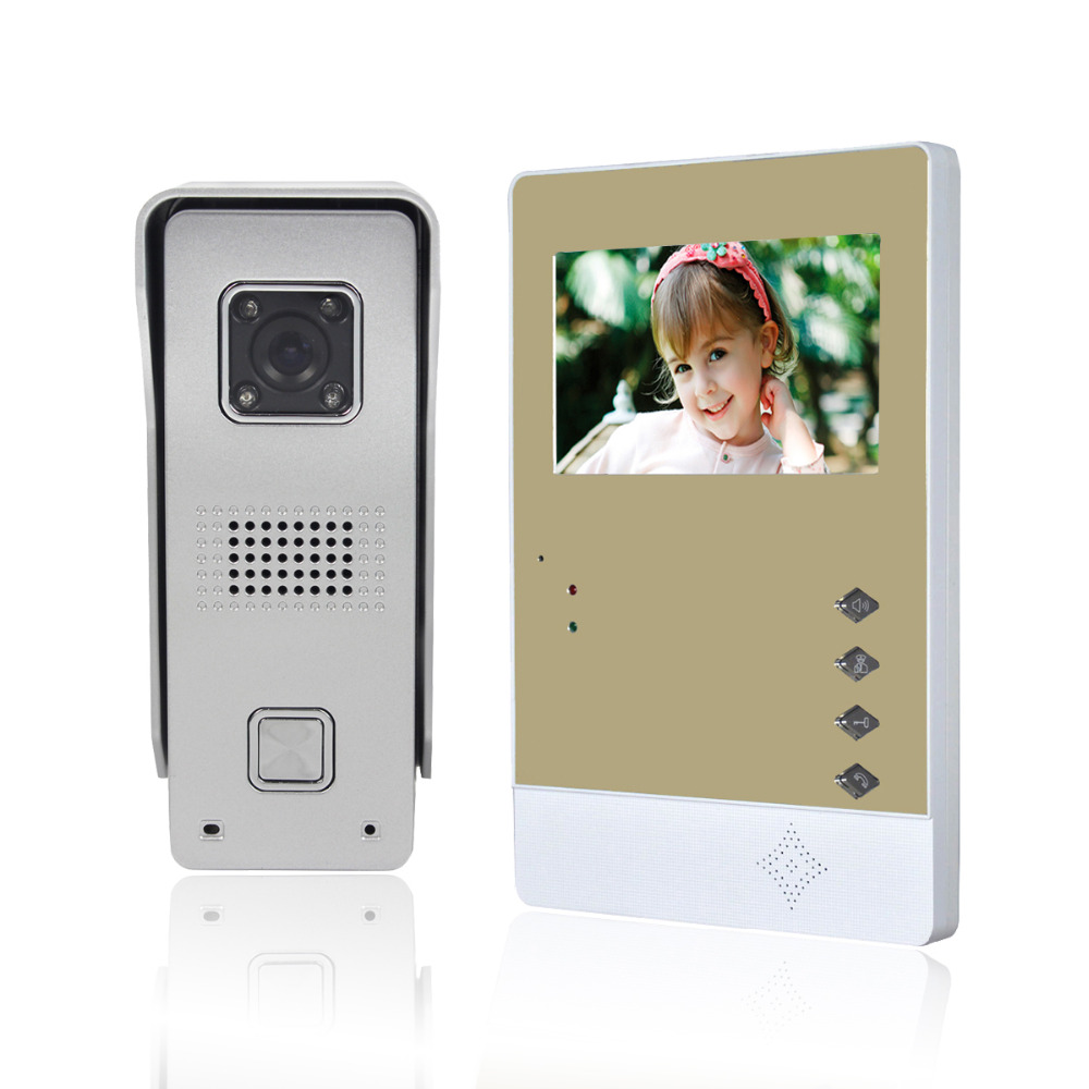 Фотография Hot 4.3 Inch Door Intercom Color Digital Doorbell Infrared Night Vision Video Door Phone F1634J