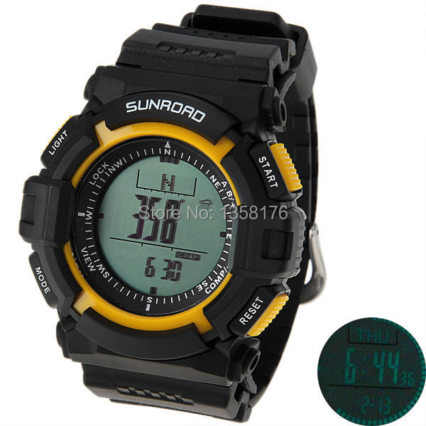 Model FR820A 3ATM Water Resistant Altimeter Compass Stopwatch Fishing Barometer Pedometer Outdoor Watch - SHEN ZHEN IN-COLOR TRADING CO., LIMITED store