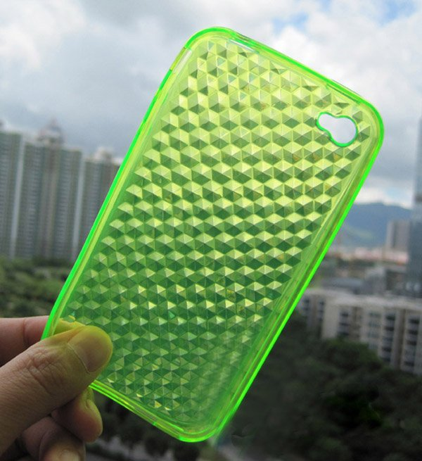 Silicone case Diamond pattern silicone skin hardy case for iphone 4g(China (Mainland))