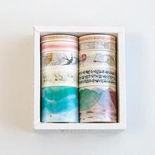 10 unids/lote flores de cerezo de cinta de Washi Flamingo unicornio adhesivo decorativo cintas de Carrocero para Scrapbooking decoración lindo Papeterie(China)