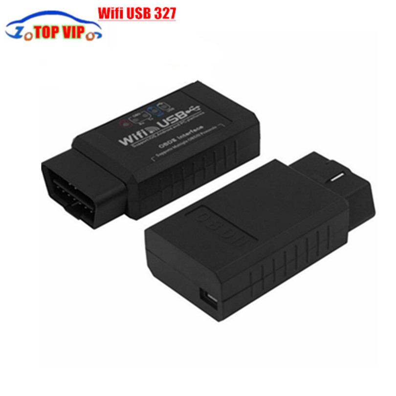 2016 New Arrival ELM327 WIFI USB Scanner Professional Diagnostic Tool elm 327 wifi obd2 Support Iphone/Ipad/Ipod(China (Mainland))