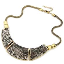 Xl053 wholesale Jewelry Fashion Geometry montage Snake Skin Vintage Necklace(China (Mainland))