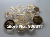 Wholesale 22pcs/lot Free shipping High quality Russian Gold clad Replica Souvenir coins