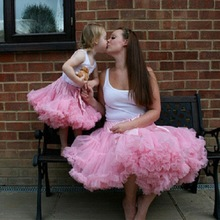 2016 new paternity bow Skirt autumn Europe and America children adult pettiskirt Tutu skirts mother and daughter clothes pink(China (Mainland))