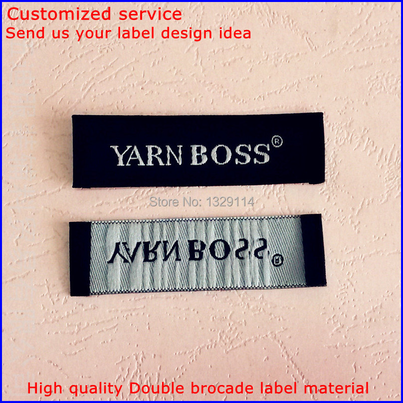 Free shipping 6 cm * 2 cm Weave folded label customized shirt Jacket bag woven labels garment tags MZ-1906(China (Mainland))