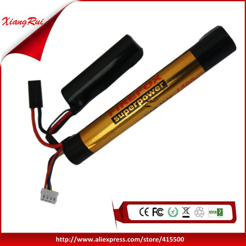 100% Orginal For FireFox 11.1V 1500mAh 15C Li Po AEG Airsoft Battery F3L15C(China (Mainland))
