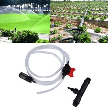 Hot 1Pc Original 20mm Venturi +Irrigation Water Tube with Flow Control Switch & Filter Kit  New(China (Mainland))