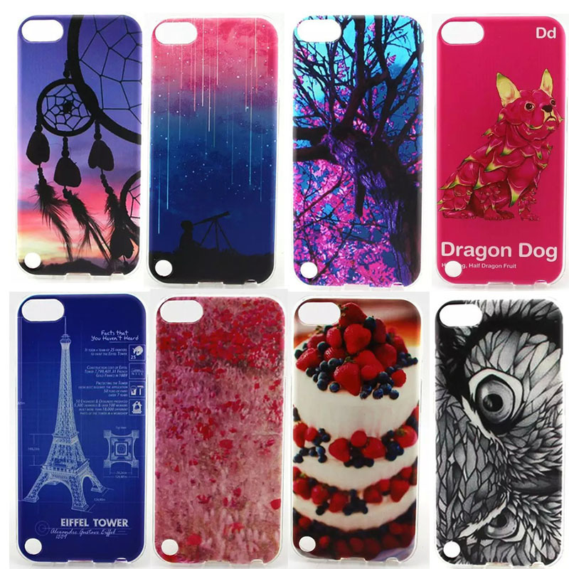 Case For Apple Ipod Touch 5 Phone Accessories Soft Picture Printing Drawing Cover For Touch5 Fashion Soft TPU Phone Cases(China (Mainland))