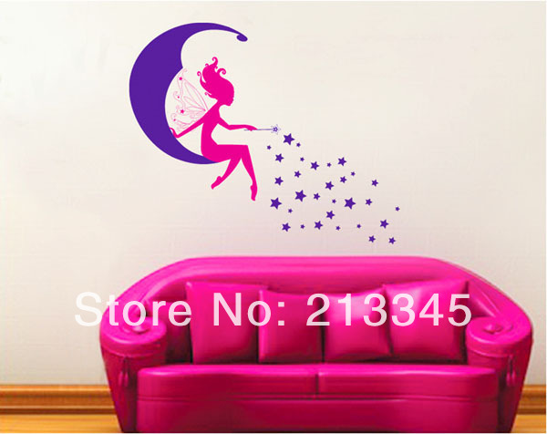 Wall stickers baby kids girl room decor decals removable home art 5215