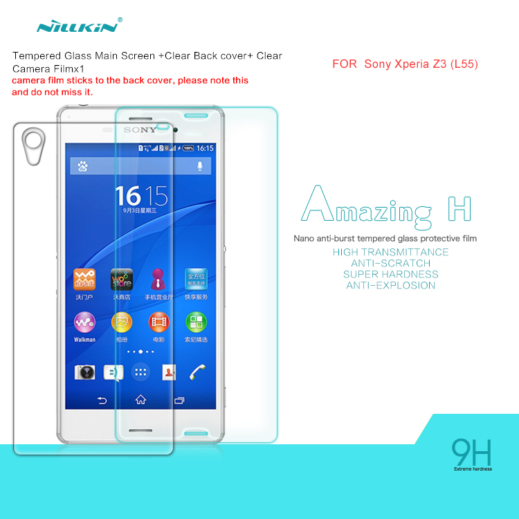 Sony Xperia Z3, Nillkin Amazing Nanometer Anti-Explosion Tempered Glass Film Screen Protector Z3 (L55) - Best brand Accessories store