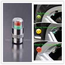 4pcs/Lot 2.2 bar 32PSI tire pressure,car tire Monitor pressure gauge,Cap Sensor Indicator 3 Color Eye Alert air pressure gauge