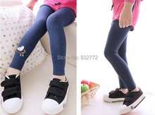Baby Kids Girls Cotton Pants Embroidery Bird Warm Stretchy Leggings Trousers 2015
