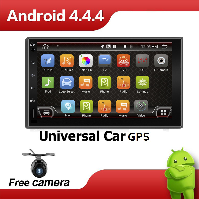 2 din Car without DVD player GPS Auto RDS 7 Inch For Volkswagen VW Universal POLO PASSAT Caddy TIGUAN GOLF Seat free cam Map car(China (Mainland))