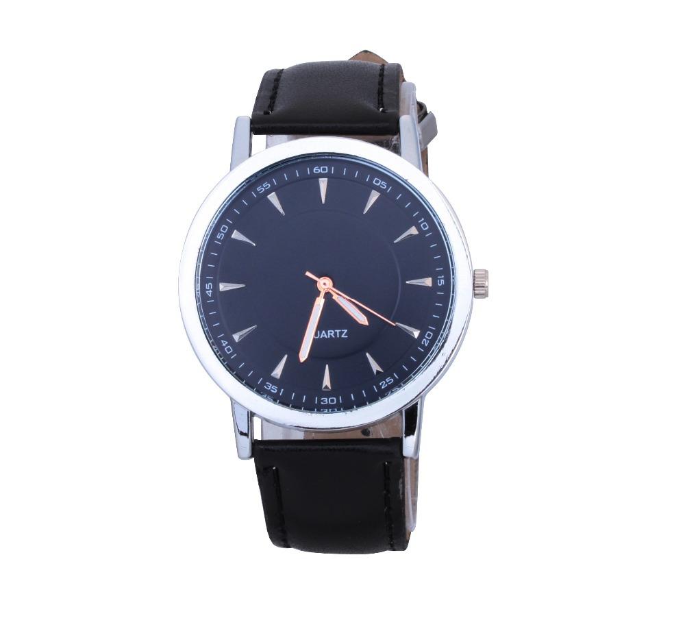 new fashion casual watches men luxury brand leather strap quartz watch Ultra thin Men s