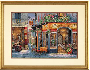 DIY 14ct Cross Stitch Kit Pub European Pattern Landscape Embroidery a Cross Needlework Innovative Items Home Decoration pictures(China (Mainland))