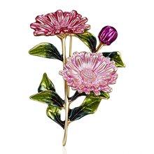 RINHOO розовый букет ромашек эмалированные Броши металлические цветы Свадебная Банкетная брошь булавки для женщин и мужчин(China)