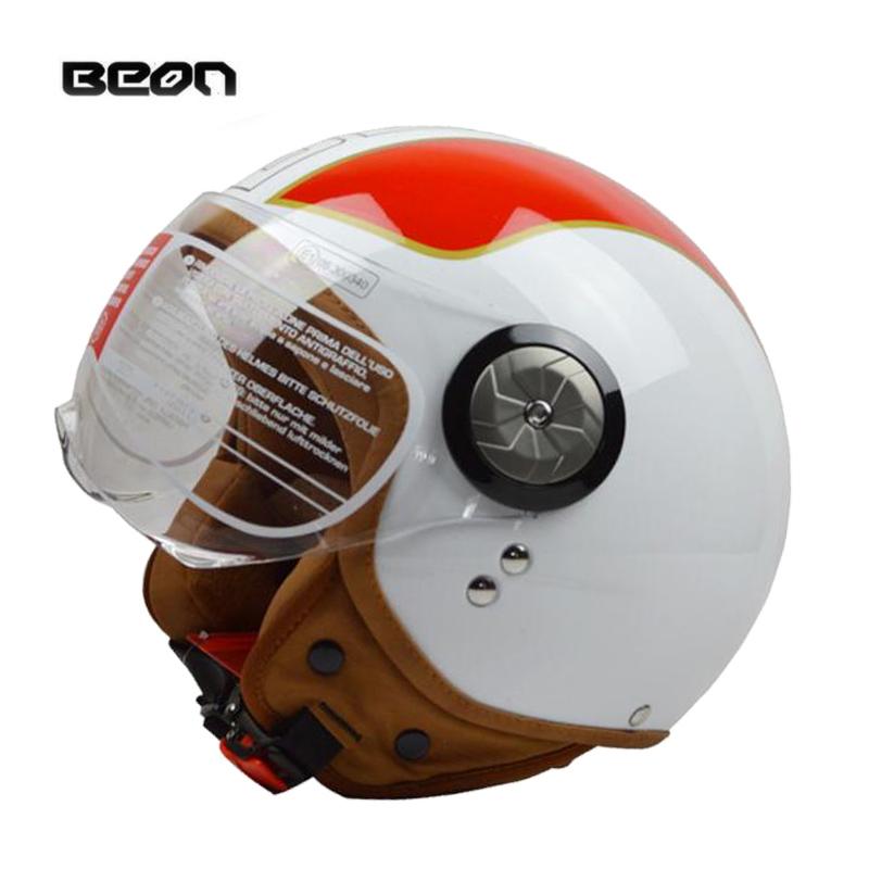 2016 NEW Arrival Cascos para moto Open Face Helm with Lens retro vespa Motorcycle Moto cross Helmets BEON-110(China (Mainland))