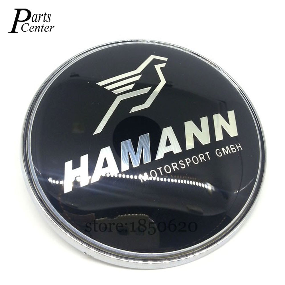 74mm For HAMANN BMW Emblem with 2 Pins Rear Trunk Logo Badge Car styling for BMW X5 X6 E30 E36 E39 E46 E53 E63 E82 M3 M4 M5(China (Mainland))