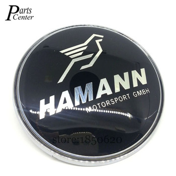 High Quality Modified 74mm For HAMANN BMW Emblem with 2 Pins Rear Trunk Logo Badge car styling emblems for BMW