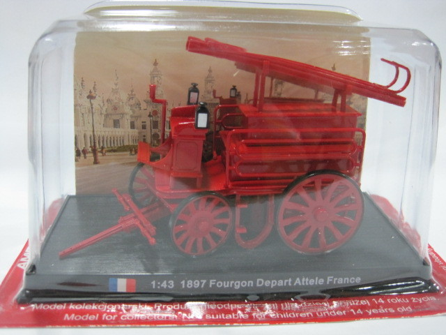 AMER COM 1/43 FOURGON DEPART ATTELE FRANCE France 1897 fire engines<br><br>Aliexpress
