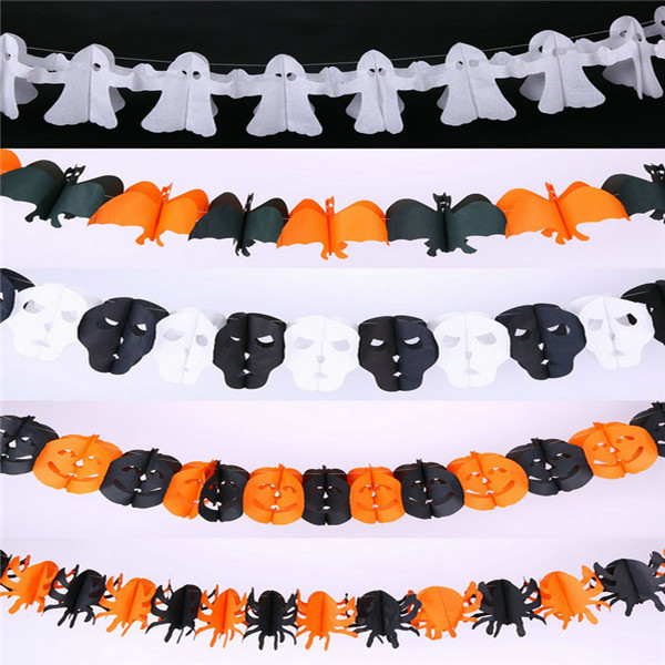 Free shipping 10pcs of Colorful Garlands Halloween Theme Party Ghost Bar Club Pub Cosplay Decoration Props ghost Supply Toy Gift(China (Mainland))