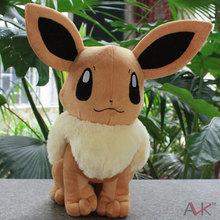 Anime Cartoon Pokemon Eevee Plush Toy Soft Stuffed Animals Dolls Gifts for Children PKPD095(China (Mainland))