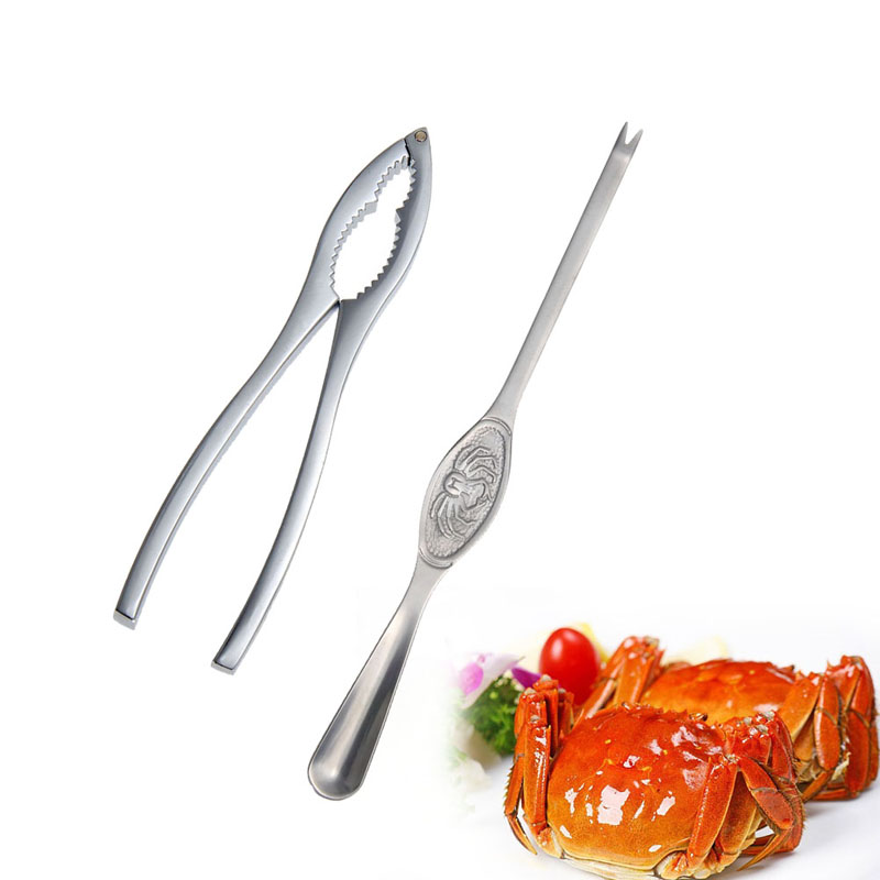 New Kitchen cooking tools Seafood lobster crab forks,nut and lobster cracker,crab pick pincers home kitchen accessories(China (Mainland))