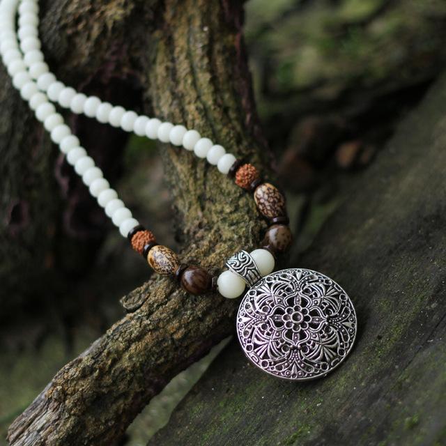 Свитер ожерелье Этнические украшения оптовая оригинальное ручной натуральный белый ...