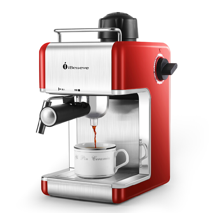 Italy espresso coffee machine automatic coffee maker , Cup-warming plate and bar steam free shipping(China (Mainland))