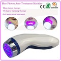 Blue Led Light Therapy Anti Acne Treatment Scar Mark Remover Facial Tonning Firming Device With Heat