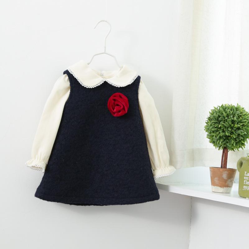 Girls flowers sleeveless dress children in autumn and winter fashion cute pretty girls sundresses Kids()
