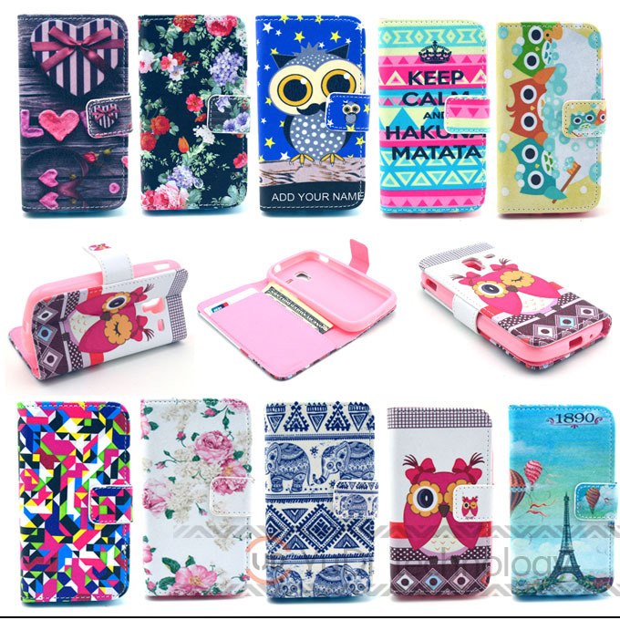 Samsung Galaxy ACE 2 ACE2 i8160 Flower PU Leather Flip Case Stand Style Wallet Cover Card Holder - Mobile Phone case YD store