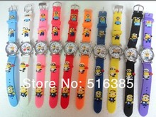 New Beautiful Despicable Me Children Boy Girl Wrist Watches cartoon 3D watch 10pcs/lot Free shipping