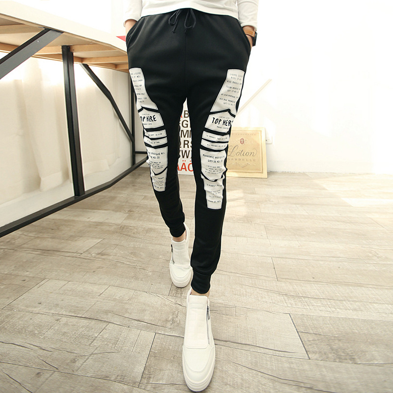 2016 Mens Joggers Sport Jogging Army Aliexpress Taobao Explosion Models New Men's Athletic Pants Korean Trousers(China (Mainland))