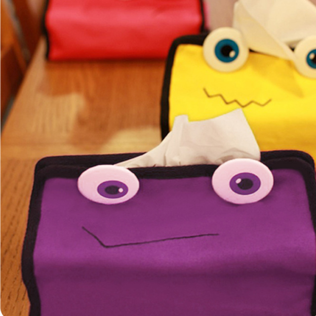 free shipping Car tissue cover adjustable 100% cotton tissue box set paper pumping set white