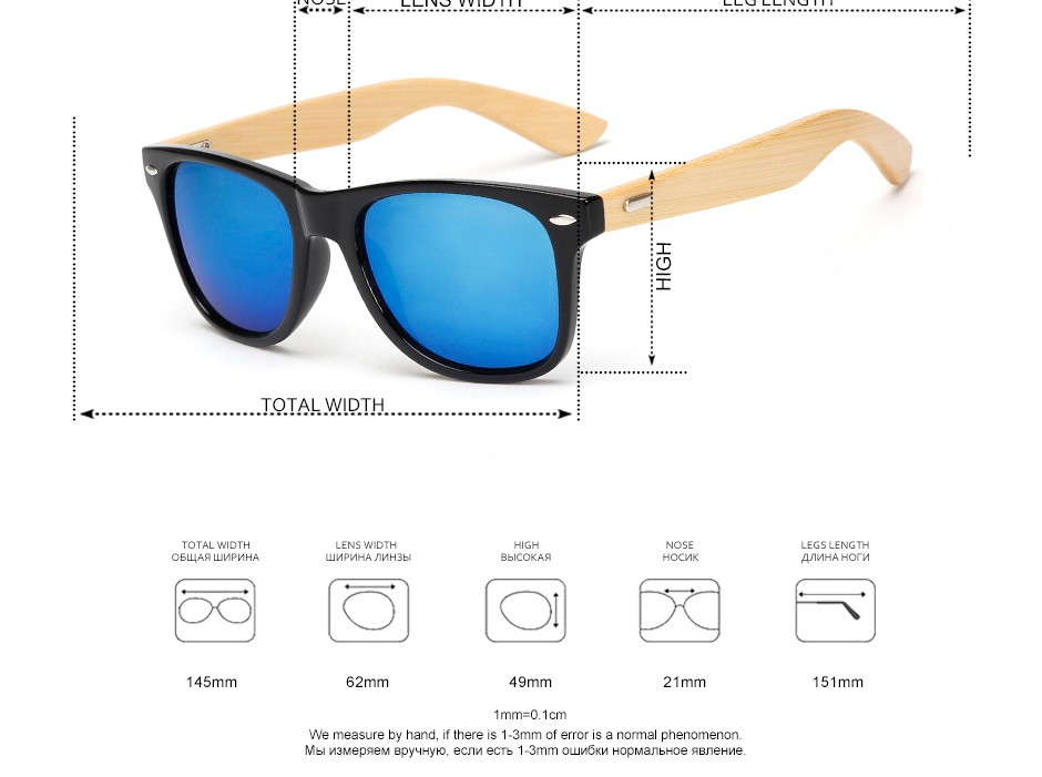 Boapt Bamboo wood Reflective Oval Unisex Sunglasses Women Brand Designer Men Vintage Female Sun Glasses Steampunk Spectacles