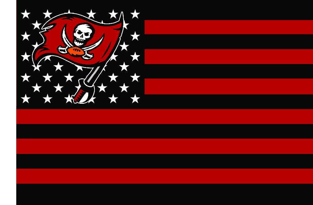 Tampa Bay Buccaneers NFL Premium Team Football Flag hot sell goods 3X5FT 150X90CM100D Polyester brass metal holes Custom flag(China (Mainland))