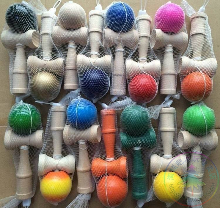 china post mail Shipping Size:18.5cm Funny Japanese Traditional Wood Game Toy Kendama Ball colorful 10piece/lot<br><br>Aliexpress