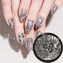New Stamping Plate hehe76 Nail Art Template Flower Leopard Animal Zebra Lace Pattern Wild Style Stamping Transfer DIY Tool(China (Mainland))
