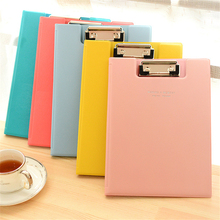 Pastic Clip File Folder A5 235*175  mm Fashion Solid Color File Clip Board Writing Pad School Office Supply Gift Stationery