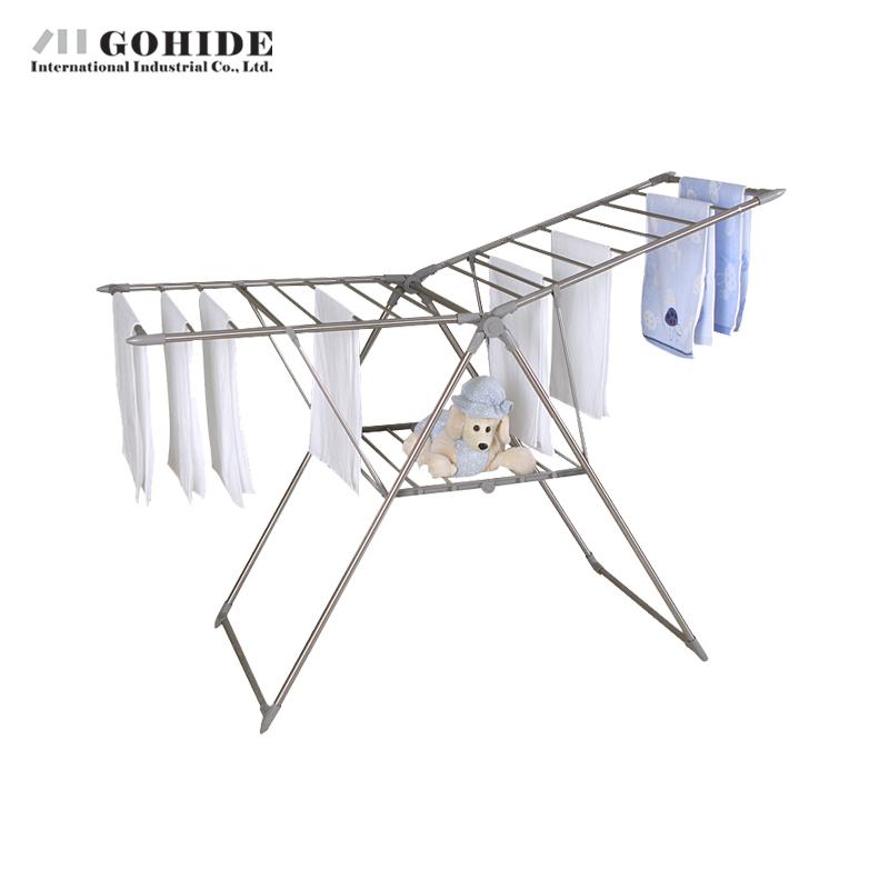 Gohide Home Furniture Strengthen Landing Hangers Wing Type Racks Folding Drying Racks Balcony Drying Racks Were L301 Coat Racks(China (Mainland))