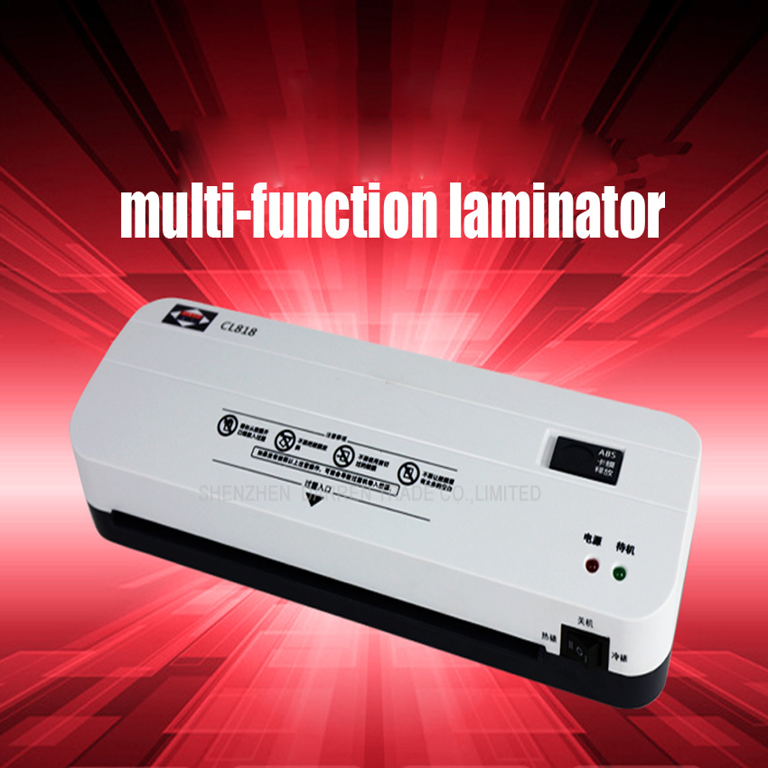 Free DHL 1PC Office Hot and Cold Laminator Machine for A4 Document Photo Blister Packaging Plastic Film Roll Laminator(China (Mainland))