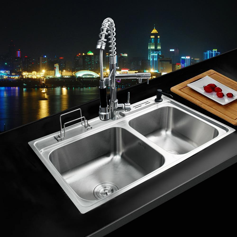 Shivers Kitchen Stainless Steel Sink Vessel Kitchen Washing Vegetable ...