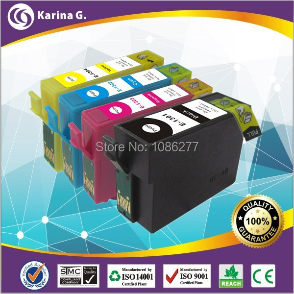 20PK  Ink Cartridge For Epson Printer  with Chip for Epson T1301-T1304,Used For Epson Stylus SX525WD/SX535WD ,Free shipping