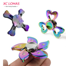 Buy 3 Colors Alloy Fidget Spinner Cool Hand Spinner Anti Stress Fidget Finger Toys Educational Toys Birthday Gifts Fast for $5.54 in AliExpress store