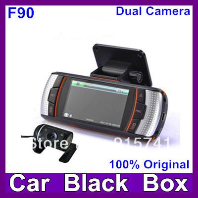 2013 Newest  F90G H.264 Dual Lens Car DVR  G-Sensor Full HD720P 20FPS 2.7' LCD/HDMI/External IR Rear Camera Free Shipping