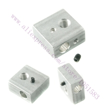5pcs Aluminum Heating Block for RepRap Makerbot 3D Printer Extruder Hot End with Screw MK7 MK8
